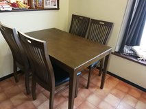 dining table with four chairs in Okinawa, Japan