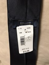 Arrow Black Silk Neck Tie New in Okinawa, Japan