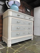 Magnificent Blue Cascade Shabby Chic Louis Philippe Chest of Drawers in Ramstein, Germany
