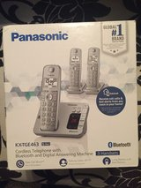 NEW, Panasonic Bluetooth Cordless phone set with digital answering machine in Houston, Texas