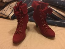 Ladies Red heeled dress boots in Ramstein, Germany