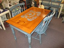 Painted Country Kitchen Table With 2 Chairs in Camp Lejeune, North Carolina