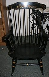 Two Nichols and Stone Black Windsor Rocking chairs in Warner Robins, Georgia