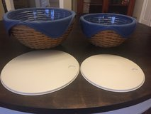 Longaberger bowls with liners and lids in Glendale Heights, Illinois