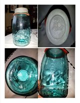 Ball Quart Jar Rare Blue Vintage Mason with Zinc Lid and Gasket in St. Louis, Missouri