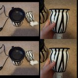 EUC scentsy full size warmer zebra and wall plug in Spring, Texas