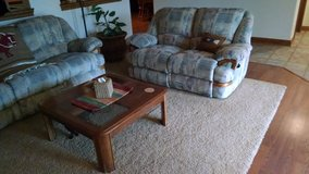 Bay Furniture 3 Piece Couch, Love Seat and Rocker / Recliner in Joliet, Illinois