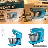 new in box Faberware 4.7 Qt stand mixer color teal in Yorkville, Illinois