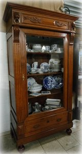 elegant library / china / linen cabinet in Spangdahlem, Germany