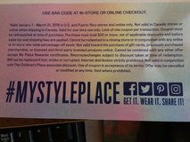 Children's Place Coupon $10 off $20 in Naperville, Illinois