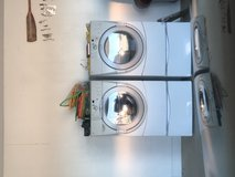 Washer and dryer: front loader . Dryer panel has slight button glitch in Leesville, Louisiana