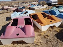 3 Fiberglass Antique Pedal Boats in Yucca Valley, California