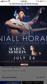 3 Niall Horan tickets in Bolingbrook, Illinois