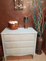 Shabby 3 Drawer Table Chest Dresser entry piece in Oswego, Illinois