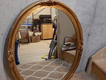 30 x 24 Oval Gold Framed Mirror in Aurora, Illinois