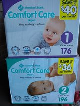 Baby Diapers sz 1 and 2 Brand New in The Woodlands, Texas
