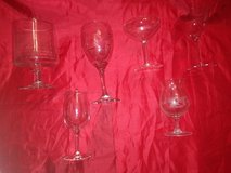 collection of various vintage bar glasses in Houston, Texas