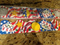 Olympic bulletin board trim in Alamogordo, New Mexico