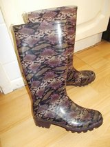 Brown Snake-skin print Wellies in Lakenheath, UK