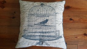 Decorative Birdcage Pillow (Down Filled) in Beaufort, South Carolina