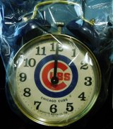 CHICAGO CUBS TWIN BELL ALARM CLOCK; VINTAGE LAFAYETTE WATCH CO. VERY RARE! in Westmont, Illinois