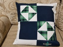 Pillows (Accent) - Handcrafted Blue/White/Green Design in Macon, Georgia