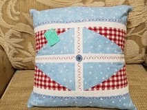 Pillow (Accent) - Handcrafted Patriotic Red/White/Blue in Macon, Georgia