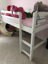Junior Loft Bed In White With Slide in Lockport, Illinois