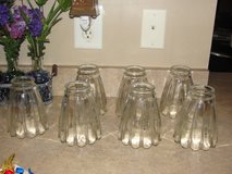 GLASS LIGHT FIXTURES FOR A FAN SET OF 7 in Camp Lejeune, North Carolina