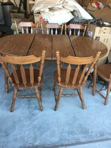 solid wood dinning table plus 6 chairs in Fort Bliss, Texas