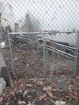 One used 5' wide by 4' tall chainlink fence gate in Baytown, Texas