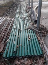 "374"" (17 stands of 22' length)  x 1 3/4"" dia. used Coated Top Rail Pipe for Chainlink Fencing in Baytown, Texas"