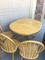 solid oak wood Dining table plus 4 chairs in El Paso, Texas