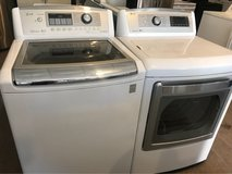 LG oversized washer and dryer electric in Cleveland, Texas