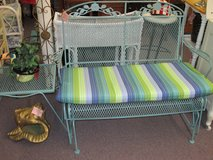 Beachey Patio Swing Glider With Matching Table in Camp Lejeune, North Carolina