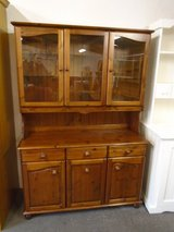 Pine dresser, glazed in Lakenheath, UK
