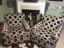 SET OF 2 PURPLE CIRCLE  DESIGN ACCENT CHAIRS in Biloxi, Mississippi