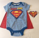 New with Tags Superman Onesie with Removable Cape 6-9 months in Hinesville, Georgia