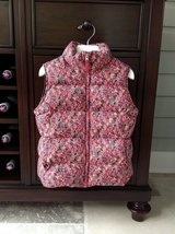 Girls Lands End Down Vest - Flower Pattern Size 7-8 in Bolingbrook, Illinois