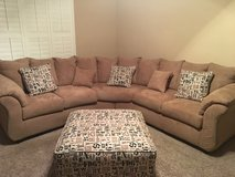 Sectional Couch & Ottoman in Luke AFB, Arizona