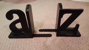 A to Z black bookends in Bartlett, Illinois