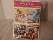 Brand New Simplicity #5530 Easy Table Top, Accessories, Chair Pads in Plainfield, Illinois