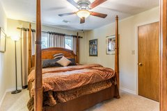 King Four Poster Bed with Armoire and Chest in CyFair, Texas