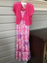 Girls Long Sundress and Sweater from Justice - Size 10 in Glendale Heights, Illinois