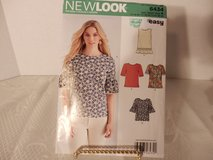 Brand New New Look Pattern #6434 Tops Sizes 10-22 in Plainfield, Illinois