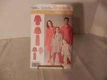 Brand New Simplicity Pattern #1504A Pajama Shirt-Pants  size XS-XL in Plainfield, Illinois