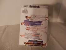 Brand New Butterick Pattern #6837 Unisex Robe-Top-Shirt-Pants Size XS-M in Plainfield, Illinois