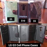 Three LG G3 Cell Phone Cases in Hinesville, Georgia