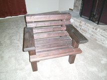 Large wood chair in The Woodlands, Texas