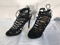 Strappy black heels Sz 10 New in Fort Riley, Kansas